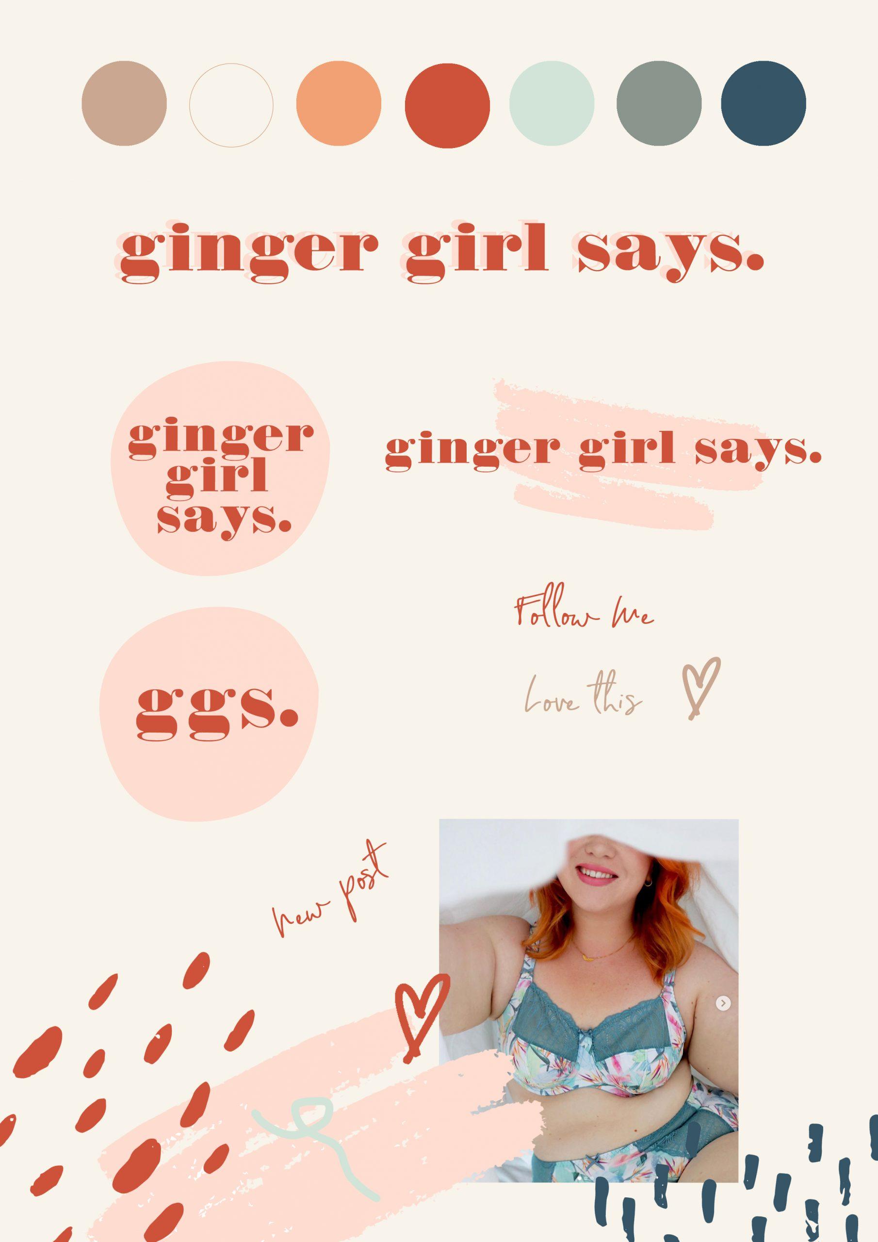 Ginger Girl Says branding