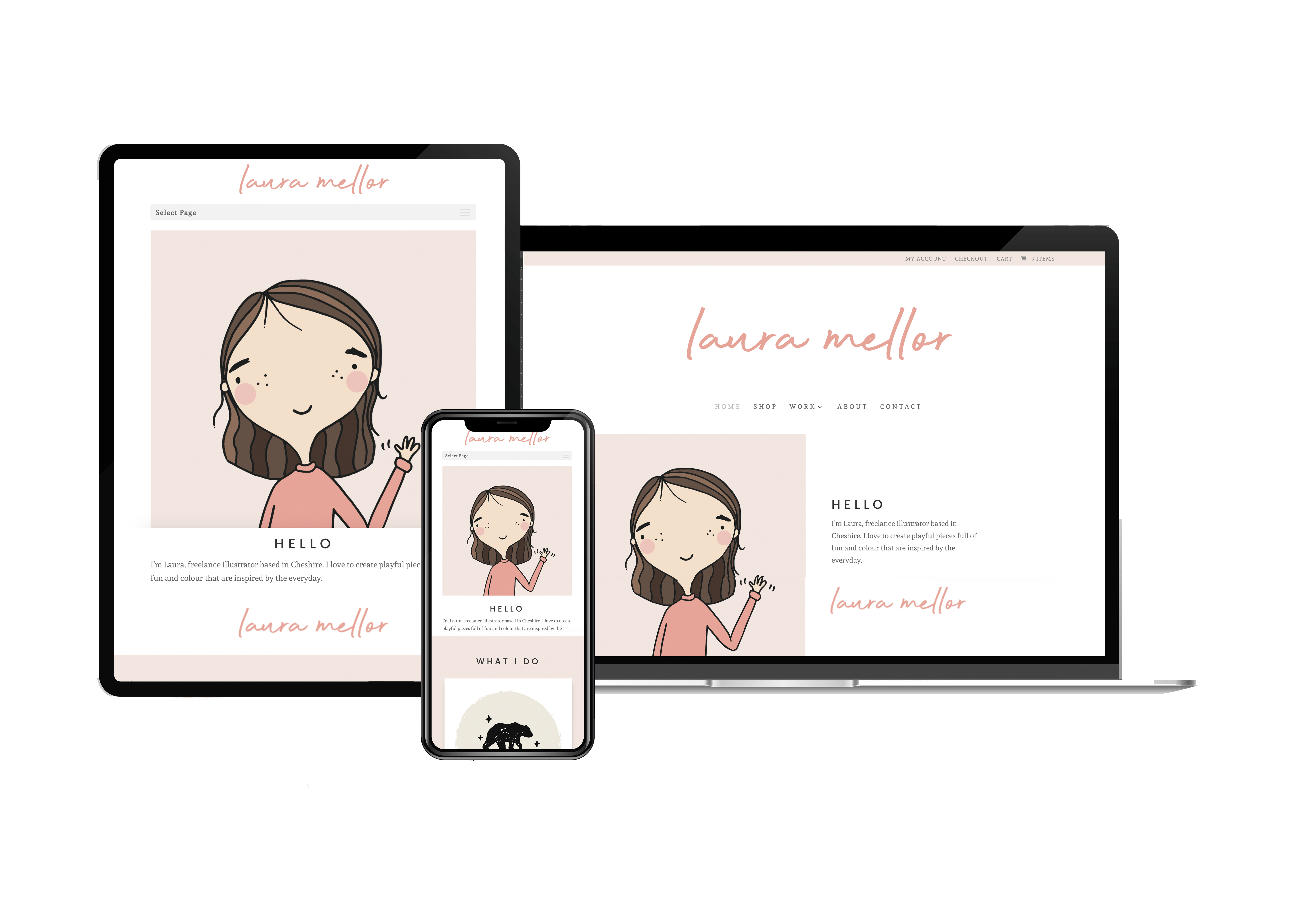 HEY Pear website design Laura Mellor